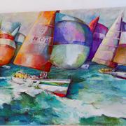Πίνακας με σκάφος του Ν.Ο.Β.κοσμεί το Δημαρχείο Βούλας.