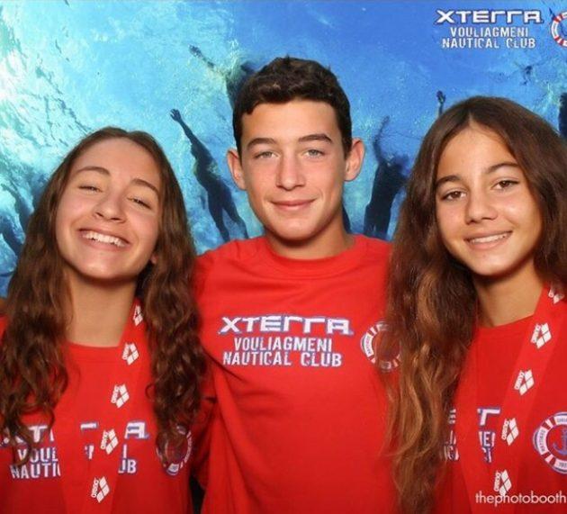 Οι κολυμβητές του ΝΟΒ στον Διάπλου Βουλιαγμένης