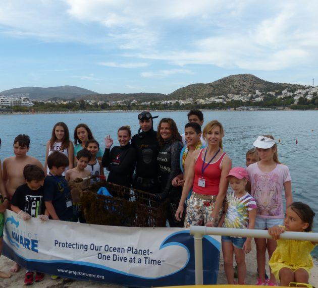 Υποβρύχιος και παράκτιος καθαρισμός του ΝΟΒ από τον Οργανισμό All For Blue και τα παιδιά του Καλοκαιρινού Camp