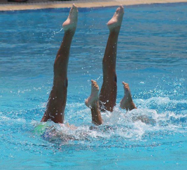 Σπουδαία εμφάνιση από την ομάδα Καλλιτεχνικής-Συγχρονισμένης Κολύμβησης του Ναυτικού Ομίλου Βουλιαγμένης