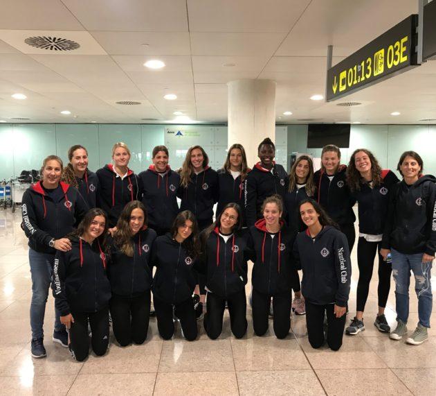 Η γυναικεία ομάδα υδατοσφαίρισης στο Sabadell για το Final Four της Euro League 2018-2019