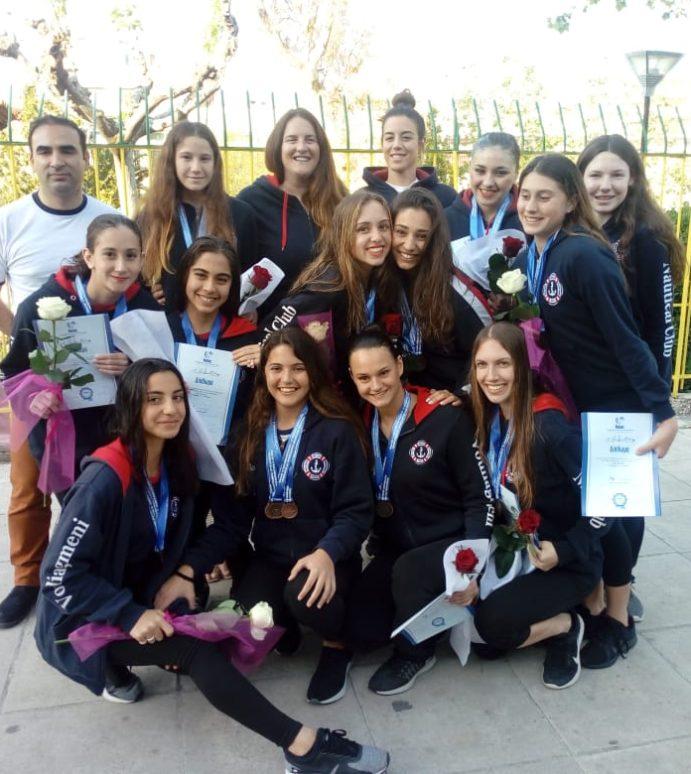 3 Μετάλλια για τον Ν.Ο.Β. στο Πανελλήνιο Πρωτάθλημα Καλλιτεχνικής Κολύμβησης Νεανίδων