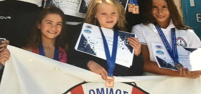 """Σάρωσε τα μετάλλια η ομάδα του Ν.Ο.Β. στους Κολυμβητικούς Διασυλλογικούς Αγώνες """"Γλαύκος"""""""